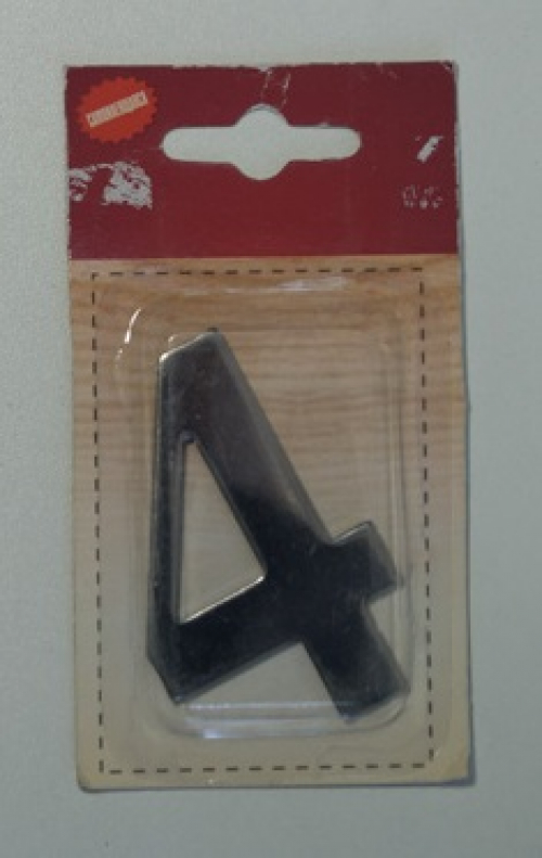 Номер дверной KORAL (4)металл(блистер)
