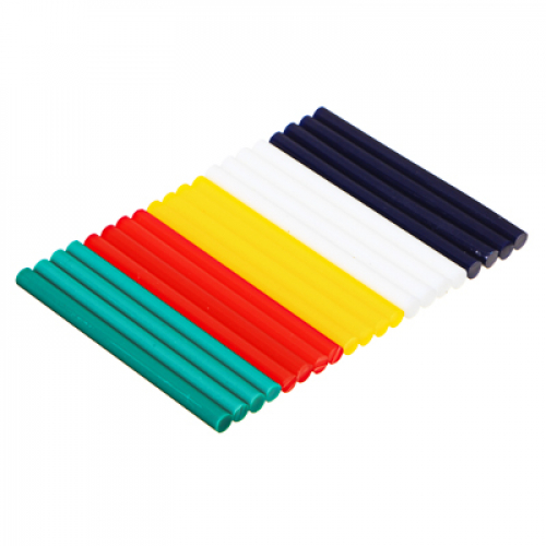 Стержни клеевые 20шт, 7,2x100мм, цветные, набор, блистер