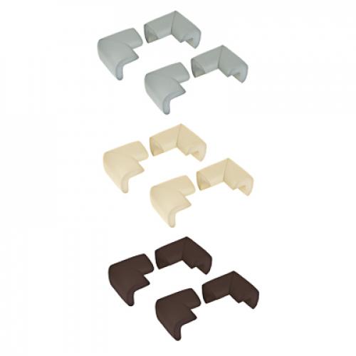 Накладки - протекторы на углы, 4шт, 6х3 см, каучук, 3 цвета VETTA