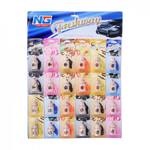 Ароматизатор подвесной Freshway дисплей, 24 шт, цена за шт NEW GALAXY