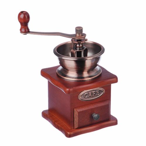 Кофемолка с деревянным основанием