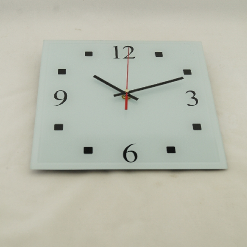 Часы настенные 21 век  с стеклянным корпусом « White« 25GL