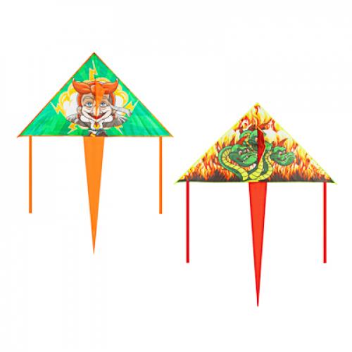 Воздушный змей 160см, текстиль, 2 дизайна BY