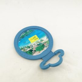 Зеркало  настольное пластик СТРАЗЫ малое к 360