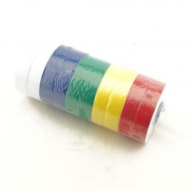 Изолента  0,13ммх18ммх30м  цветная набор из 10шт  СА 1337