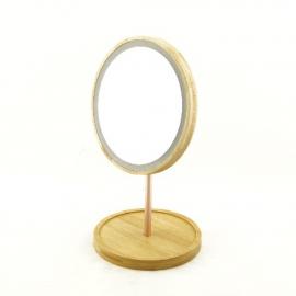Зеркало  с подсветкой YJ-1436 бамбук