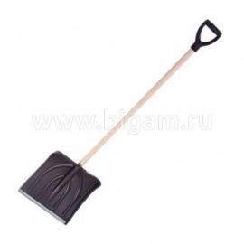 Лопата для снега с дер. черенком КРЕПЫШ