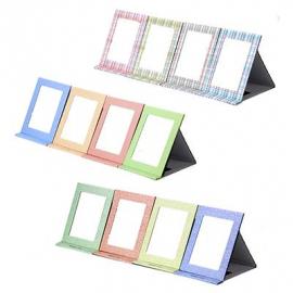 Зеркало настольное, трансформер, картон, 13,5x17,2см, 12 цветов