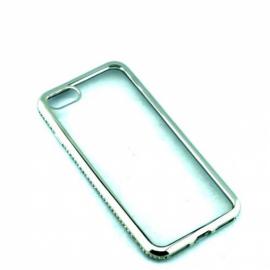 Накладка силиконовая со стразами металик для iPhone 7