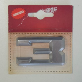 Номер дверной KORAL (3)хром(блистер)