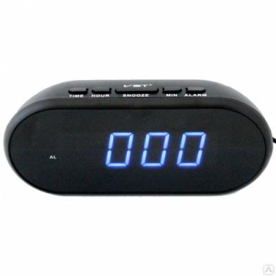 Часы настольные от сети VST715-5, синие ,220В.